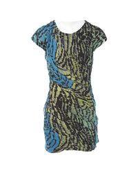 Diane von Furstenberg Blue Multicolour Silk Dress