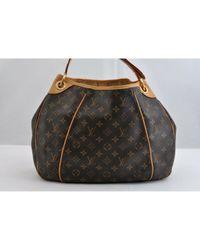 Louis Vuitton Brown Galliera Leinen Handtaschen
