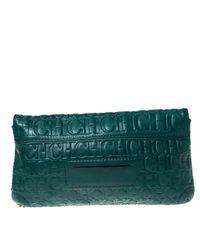 Carolina Herrera Green Leder Handtaschen