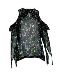 Preen By Thornton Bregazzi Black Seide Bluse