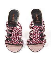 Miu Miu \n Pink Leather Heels