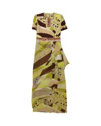 Emilio Pucci Green Pre-owned Multicolour Silk Dresses