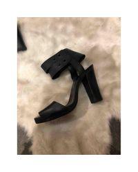 Escarpins en Cuir Noir Hermès en coloris Black
