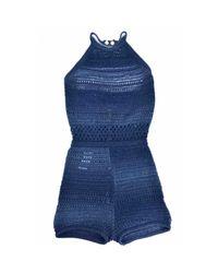 Balmain Blue Jumpsuits