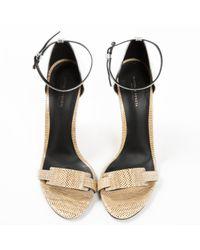 Bottega Veneta Natural Pre-owned Leather Sandals