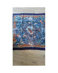 Hermès - Blue Pre-owned Carré 90 Silk Silk Handkerchief - Lyst