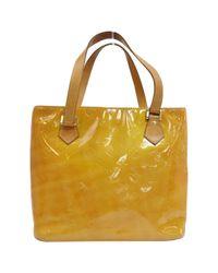 Louis Vuitton Yellow Houston Lackleder Handtaschen