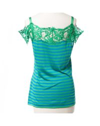 Emilio Pucci \n Green Silk Top