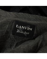 Lanvin Black Pre-owned Wool Maxi Dress