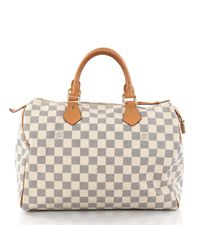 d4df81f807f9 Lyst - Louis Vuitton Pre-owned White Leather Handbag in White