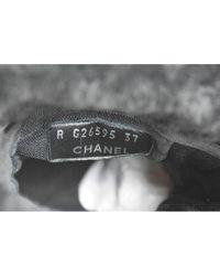 Stivali in poliestere nero di Chanel in Black