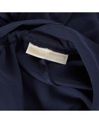 Michael Kors Blue Seide jumpsuits