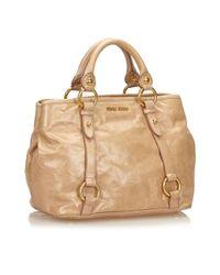 Miu Miu Brown Leather