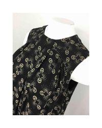Anna Sui Black Seide Mini Kleid