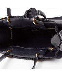 Bolsa de mano en cuero negro Roberto Cavalli de color Black