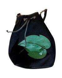 Longchamp Black Pre-owned Canvas Handbag