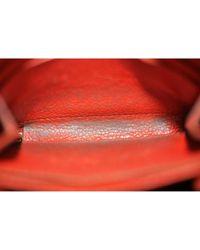 Louis Vuitton Red Zippy Leder Portemonnaies