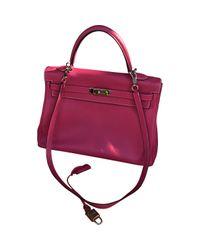Hermès Red Kelly 35 Leather Handbag