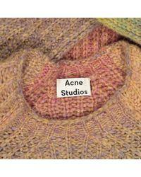 Pull-over en laine Acne en coloris Multicolor