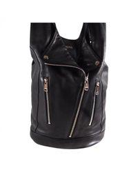 Jean Paul Gaultier Black Leather Handbag