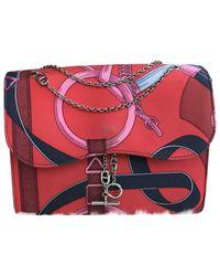 Hermès Red Silk Handbag