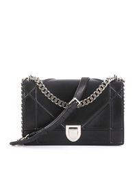 Bolsa de mano en cuero negro ama Dior de color Black