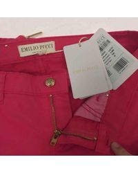 Pantalones en algodón \N Emilio Pucci de color Multicolor