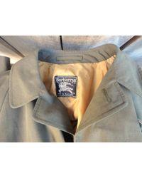 Burberry Multicolor Khaki Polyester Coat for men
