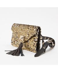 Sonia Rykiel Metallic Pre-owned Gold Glitter Clutch Bag