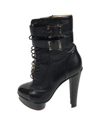 Charlotte Olympia Black Leather Ankle Boot