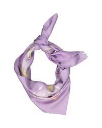 Hermès Purple Seide Halstuch