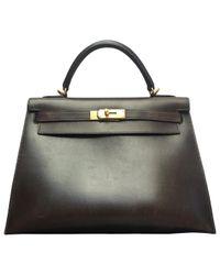 Hermès Brown Kelly Leather Handbag