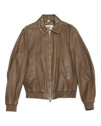 Burberry Multicolor Khaki Leather Jacket for men