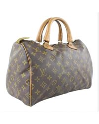 Sac à main Speedy en Toile Marron Louis Vuitton en coloris Multicolor