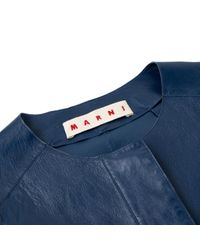 Marni Blue Leder Blouson