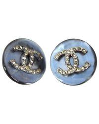 Chanel - Gray Earrings - Lyst