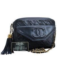 Chanel Blue Leder Handtaschen