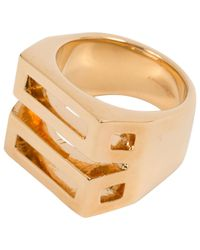 Chloé - Metallic Gold Gold Plated Ring - Lyst