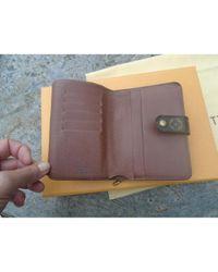 Portafogli in tela marrone di Louis Vuitton in Brown