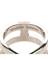 Pañuelos dorado Hermès de color Metallic