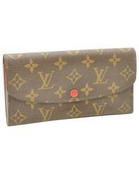 Portafoglio in tela marrone Emilie di Louis Vuitton in Brown
