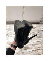 Fendi Black Leder Pumps
