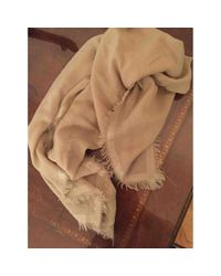 Loro Piana Natural Pre-owned Beige Cashmere Scarves