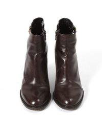 Dries Van Noten Brown Leather Ankle Boots