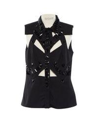 Top in cotone nero di Givenchy in Black