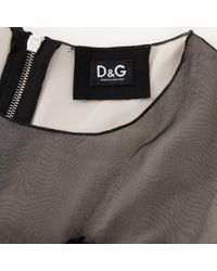 Dolce & Gabbana Black Silk Dress