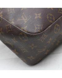 Louis Vuitton Looping Brown Cloth Handbag