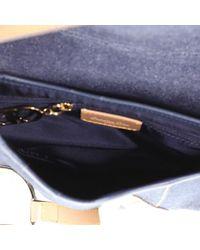 Dior Blue Saddle Leder Handtaschen