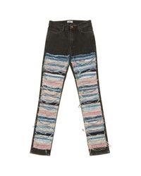 Acne Multicolor Multicolour Cotton - Elasthane Jeans
