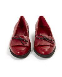 Bottega Veneta Red Pre-owned Leather Flats